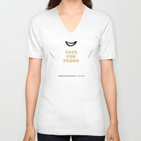 napoleon V-neck T-shirts featuring Napoleon Dynamite by FilmsQuiz