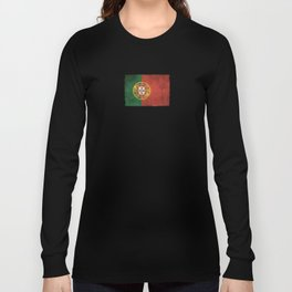 Old and Worn Distressed Vintage Flag of Portugal Long Sleeve T-shirt