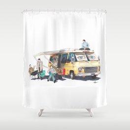 the GISHBUS Shower Curtain