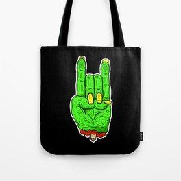Zombie Dead Hands - Rock Fingers Tote Bag