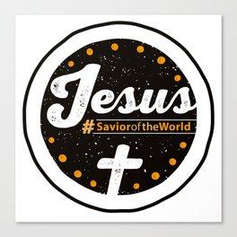 Jesus the Savior Emblem - Christian Design Canvas Print