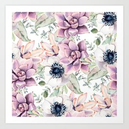Oh my Succulents Art Print