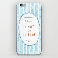 Please Don't Eat This Book iPhone & iPod Skin