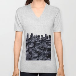 Charlotte Skyline North Carolina Unisex V-Neck