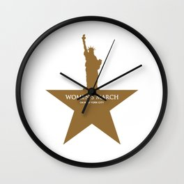 Womens March NYC 2018 Wall Clock