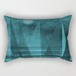 Blue Moonlight Sail Rectangular Pillow
