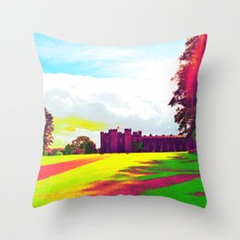 scone palace in technicolor Throw Pillow