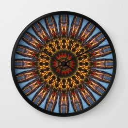 Kaleidoscope Coast at Night Wall Clock