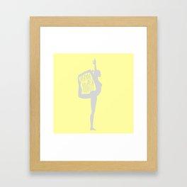 Lovin' Yoga III Framed Art Print