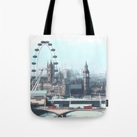 enerjax Tote Bags featuring London by enerjax