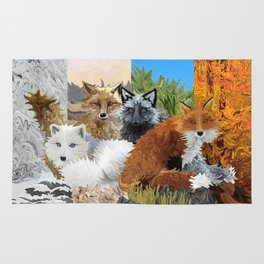 Four Shades of Fox Rug