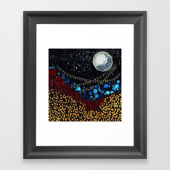 :: Veranda Moon :: Framed Art Print