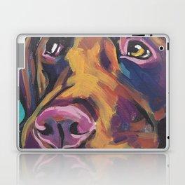 Fun Chocolate Lab Dog bright colorful Pop Art Labrador Laptop & iPad Skin