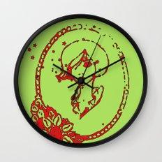 Starry Eyed Green Wall Clock