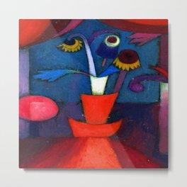 Paul Klee Autumn Flower Metal Print