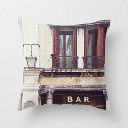 Bar in Venice Throw Pillow