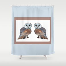 The Owl Collection - Barn Owl Shower Curtain