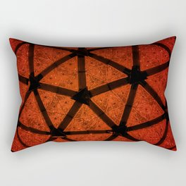 Red Crystal Ball The Ball Drop New York City New Years Eve Happy New Year Rectangular Pillow