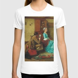 THE SILHOUETTE by NORMAN ROCKWELL T-shirt