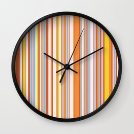 Stripe obsession color mode #4 Wall Clock