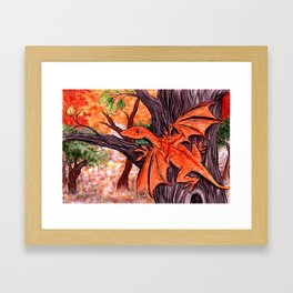 Autumn Dragon Framed Art Print