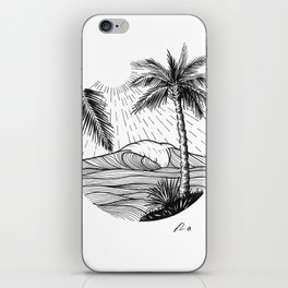 Tropical wave iPhone Skin