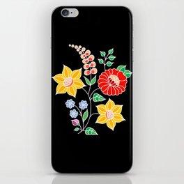 Hungarian placement print - black iPhone Skin