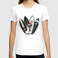 karl lagerfeld T-shirts featuring Santa Pug Lagerfeld  by LATIN for GLORY