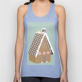 Gingerbread House Unisex Tank Top