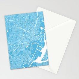 Newark map blue Stationery Cards