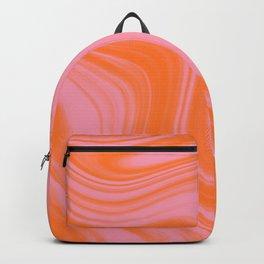 Liquid pink and orange Backpack
