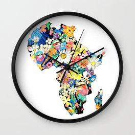 Map of Africa Wall Clock