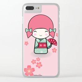 Kokeshi doll - Keiko e Usagi Clear iPhone Case