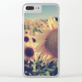 """Sunflowers"" Vintage dreams Clear iPhone Case"