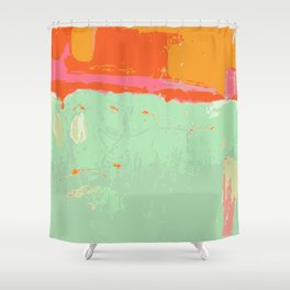 Infinity abstract art print pastel color Shower Curtain