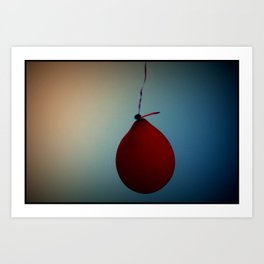 red balloon afternoon Art Print