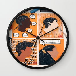 Happy To Be Nappy Wall Clock