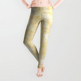 Gold Snowflakes Leggings