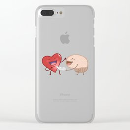 Heart And Mind Clear iPhone Case