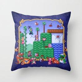 Mario Super Bros, Too Throw Pillow