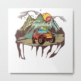 Off road, vehicle, mudding Metal Print