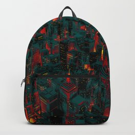 Night city glow cartoon Backpack