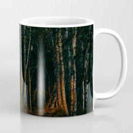 Broken Light Over Birch Bark Coffee Mug