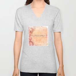 Love is a spirit all compact of fire - Venus & Adonis - Shakespeare Love Quotes Unisex V-Neck