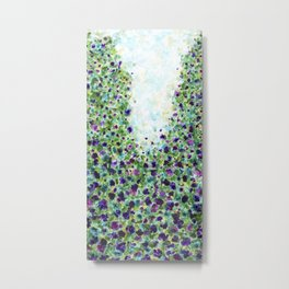 A walk through the park - Abstract Painting Metal Print