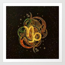 Capricorn Zodiac Sign Earth element Art Print