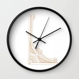 Fancy L Wall Clock