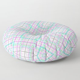 Pattern the cage .Pink and turquoise . Floor Pillow
