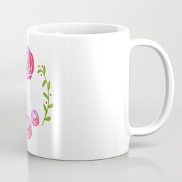 Floral Round Coffee Mug
