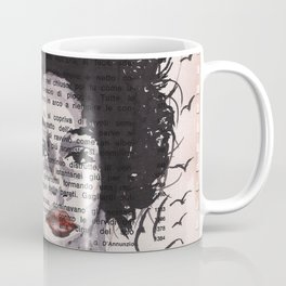 Fata Morgana - ink drawing over vintage book page Coffee Mug